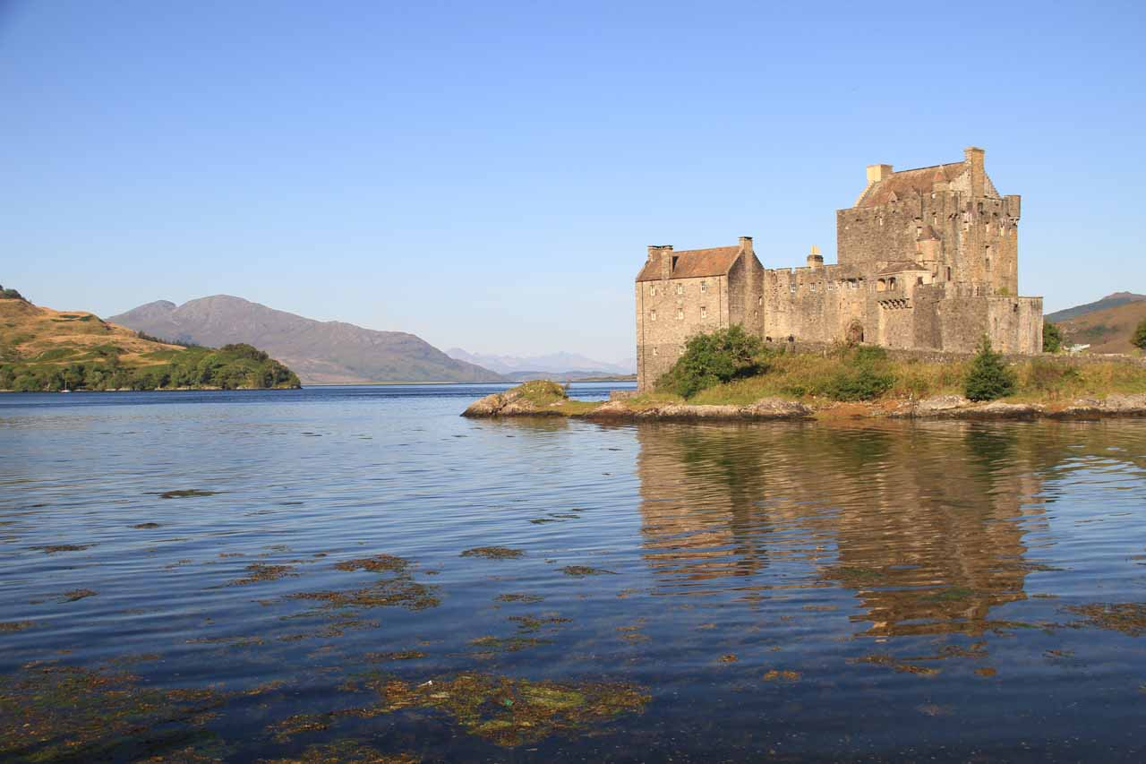 When we were headed to the Isle of Skye, we were caught off guard by this castle that was jutting out into a large lake or fjord.  It turned out to be the Eilean Donan Castle
