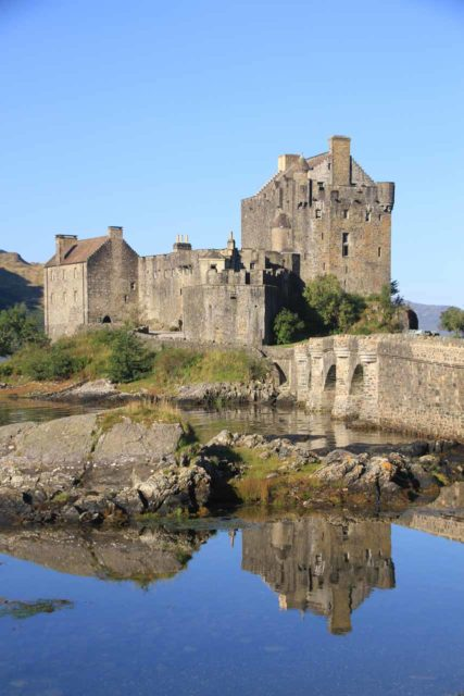 Eilean_Donan_Castle_037_08262014 - During the long drive between Inverness and Mealt Falls, we stumbled upon the Eilean Donan Castle, which was a very attractive castle just before entering the Isle of Skye