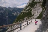 Eisriesenwelt_130_07042018 - Tahia quickly making her way down the trail from the Eisriesenwelt Ice Caves back to the cable car