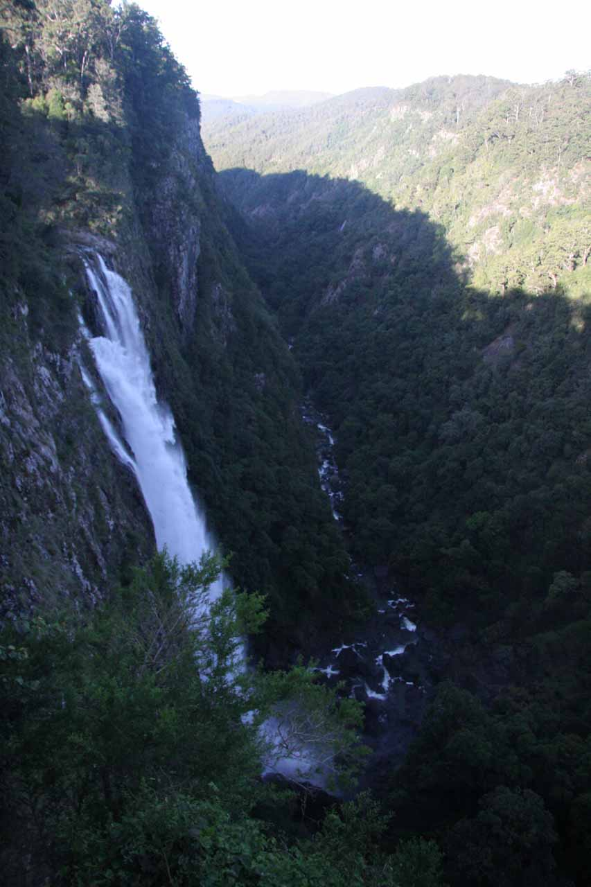 Our first look at Ellenborough Falls from the first overlook
