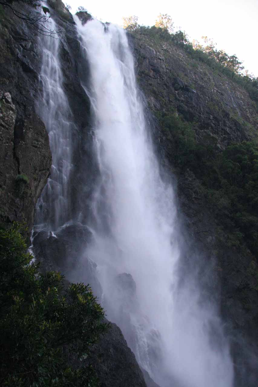 Looking up from the baes of Ellenborough Falls