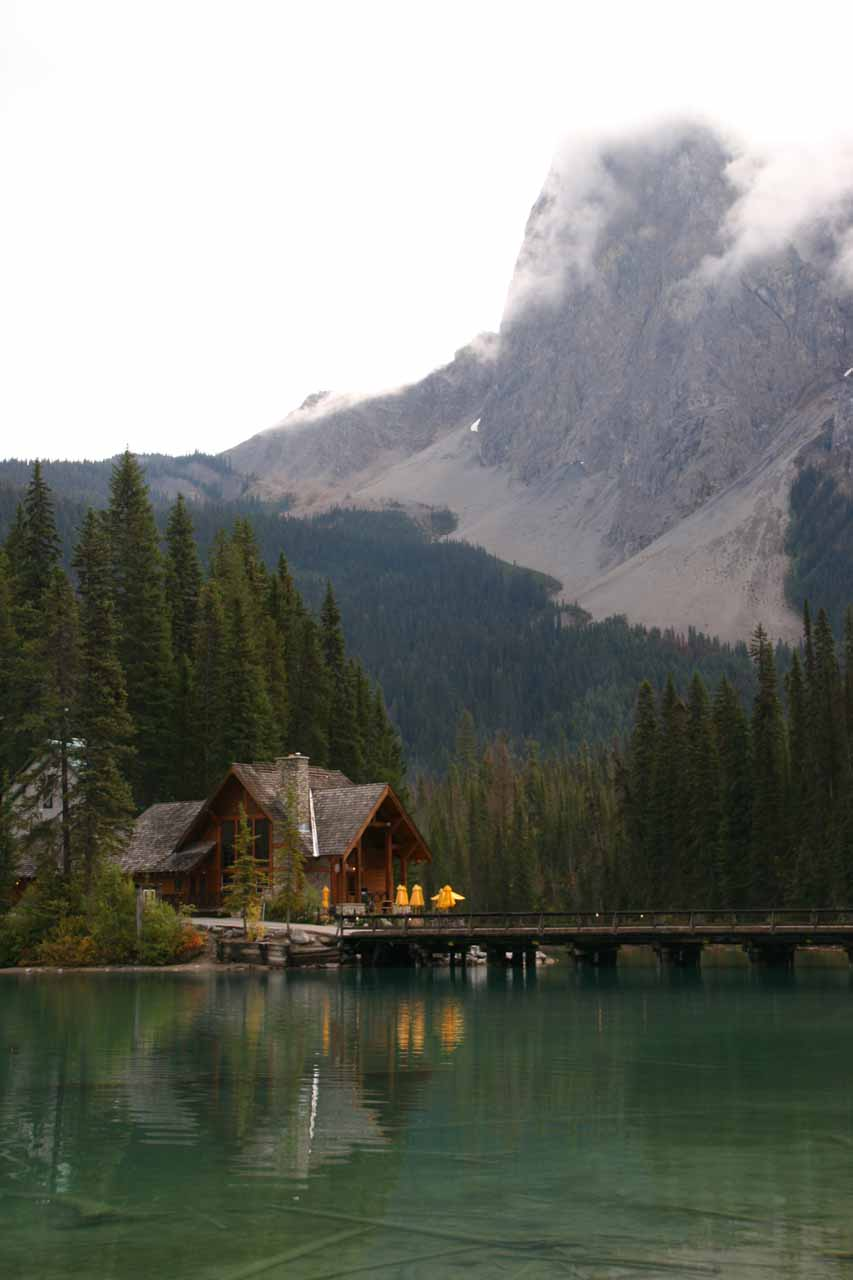Another worthwhile detour between Banff and Wapta Falls is the Emerald Lake