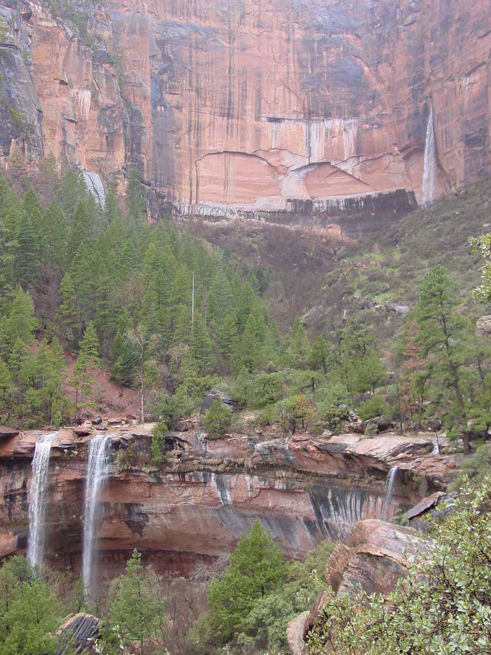 All the Emerald Pool waterfalls seen together