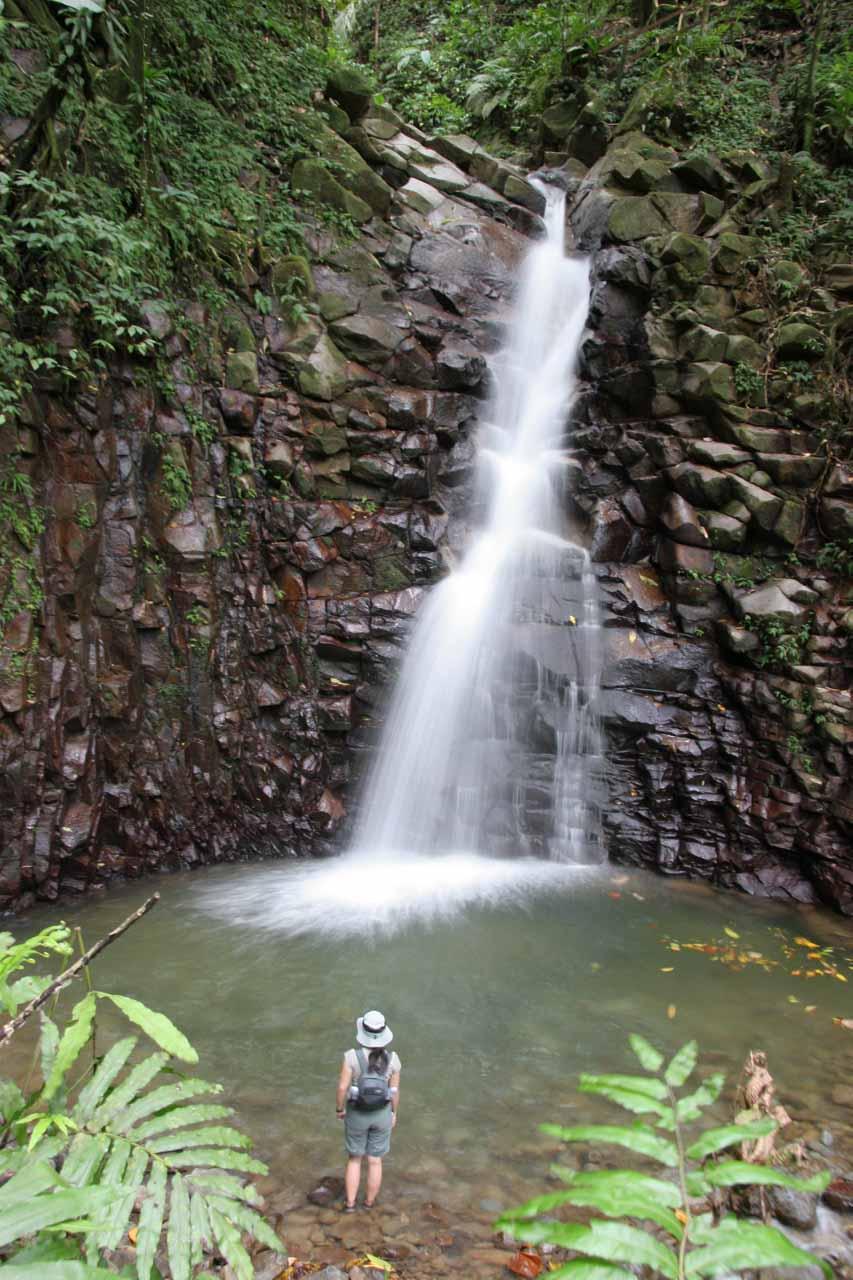 Julie checking out Enbas Saut Falls