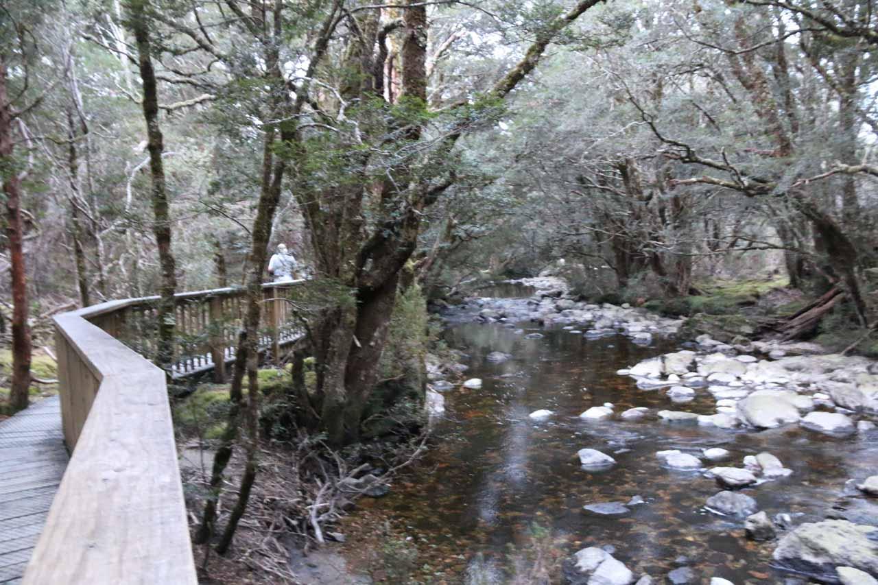 Hiking alongside Pencil Pine Creek on the Enchanted Walk