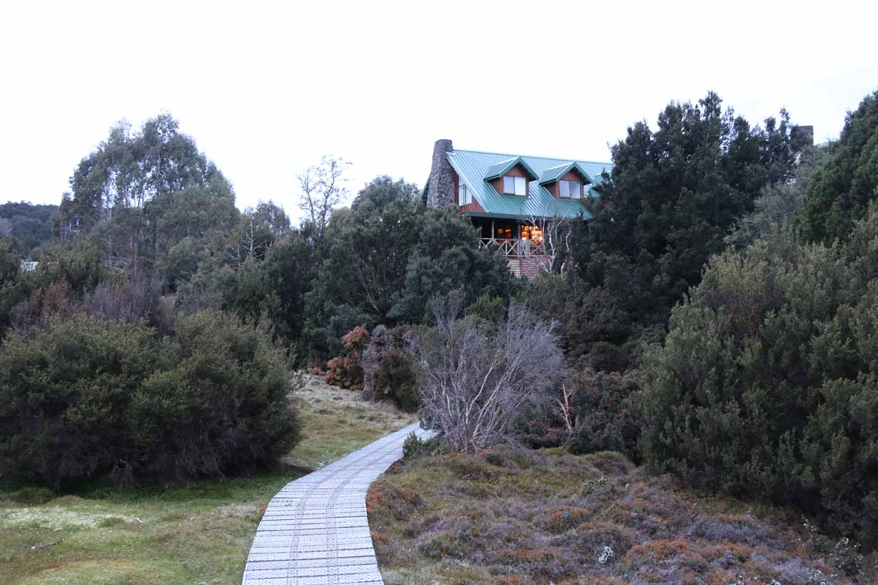 Returning to the Cradle Mountain Lodge and ending the Enchanted Walk excursion