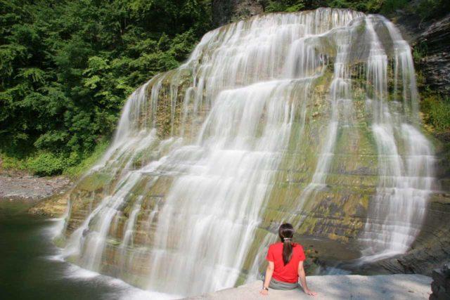 Enfield_Falls_024_06172007 - Julie checks out Enfield Falls