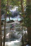 Erawan_Waterfalls_032_12242008 - People playing before the 2nd falls