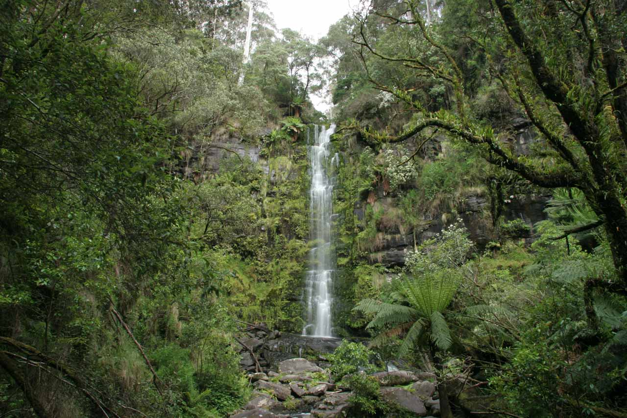 Broad view of Erskine Falls