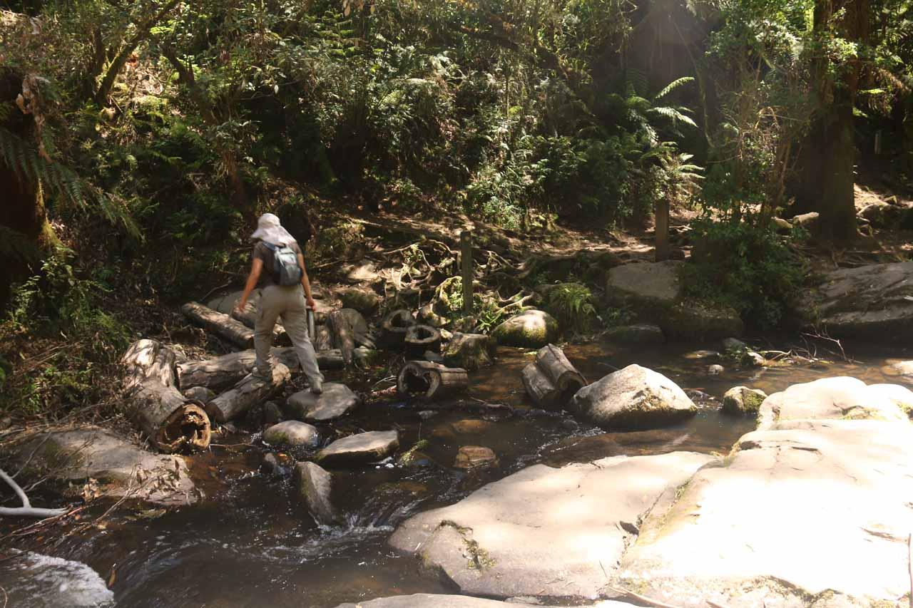 Crossing back over the Erskine River