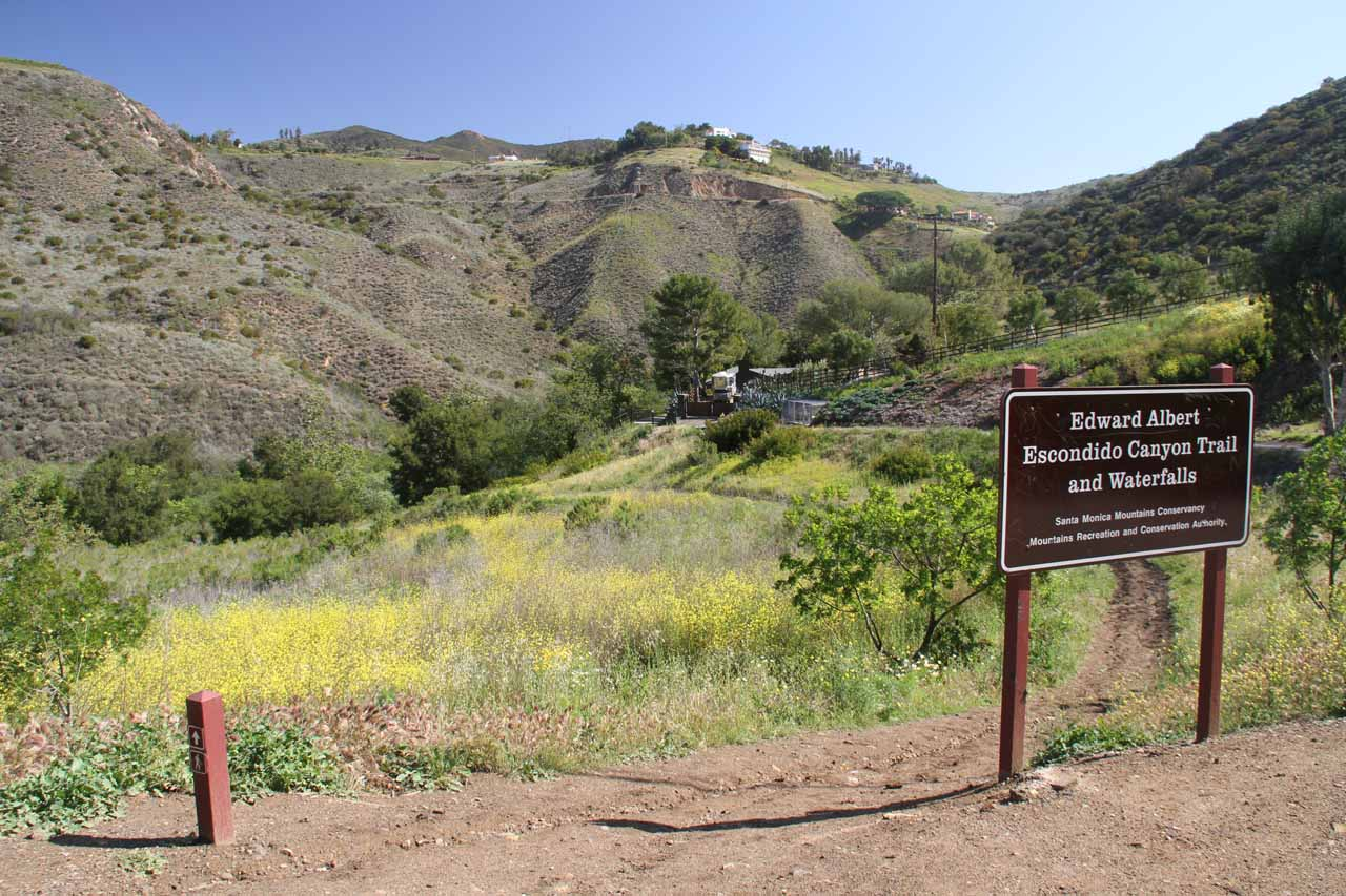 On our 2012 visit, they moved the sign and re-routed the trail to this spot