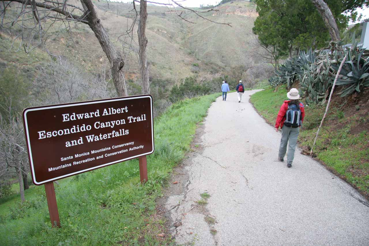 The old official trail used to pass by the last residence before dropping into Escondido Canyon