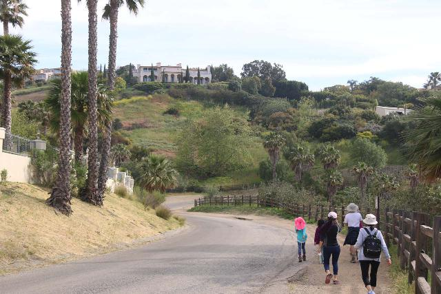 Escondido_Falls_018_04072019 - Walking along Winding Way Road, which was flanked by the opulence of grand Malibu homes