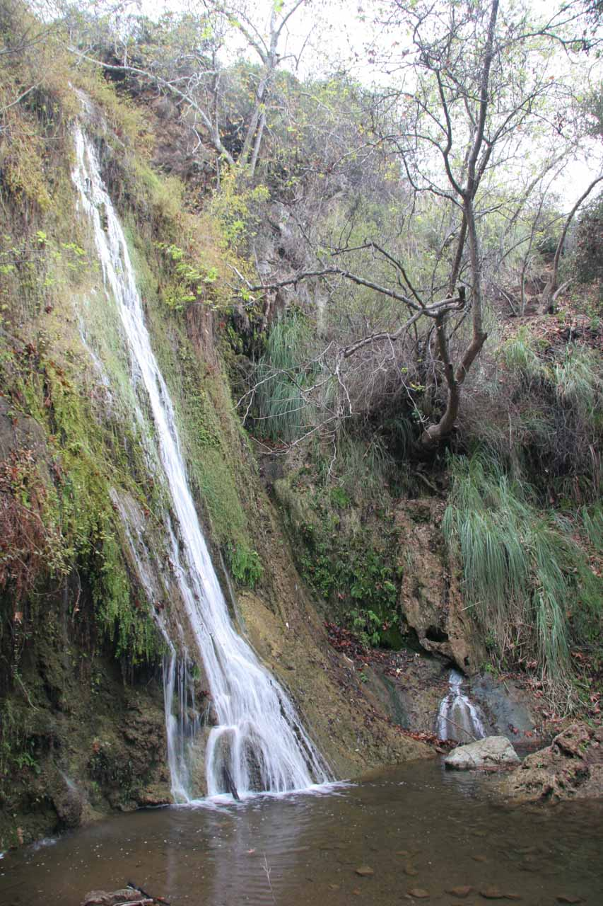 After crossing the creek, we got this more open look at Lower Escondido Falls