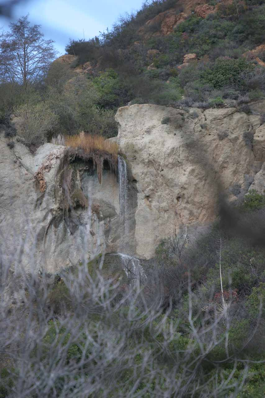 Catching a glimpse of the Upper Escondido Falls