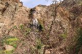 Escondido_Falls_126_04072019 - Looking ahead closer to the Upper Escondido Falls after having made it to a ridge via a route that I didn't recognize given the damage and erosion after the Woolsey Fire as seen in April 2019