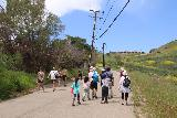 Escondido_Falls_231_04072019 - The crew hiking back along Winding Way Road after having had their fill of the Escondido Falls in April 2019