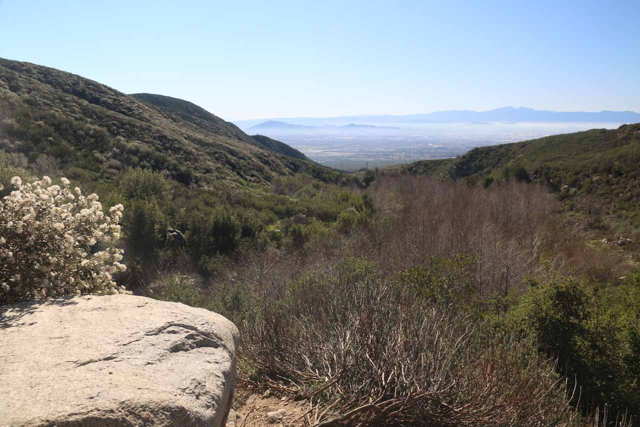 Another look towards the Inland Empire from 'Frank's Rock'