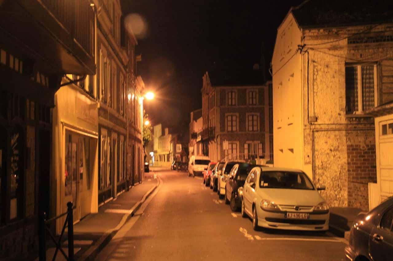 Predawn start as I walked through the quiet town