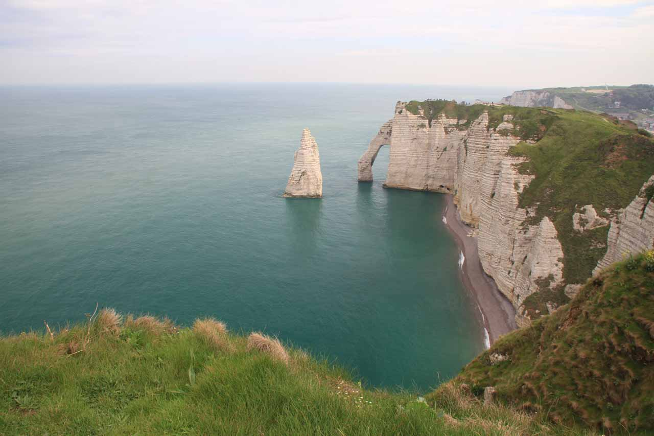 looking back at Falaise d'Aval at high tide