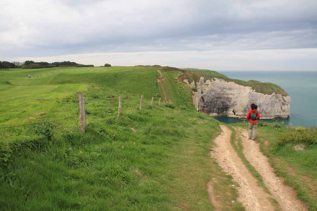 The only steep part of the cliff-top walk
