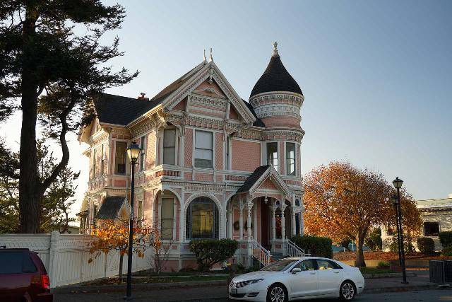 Eureka_026_11202020 - A little over an hour's drive to the south of Orick was the city of Eureka, which featured some impressive Victorian-era buildings like the pink Carson House shown here, which happened to be right across the street from the green Carson Mansion