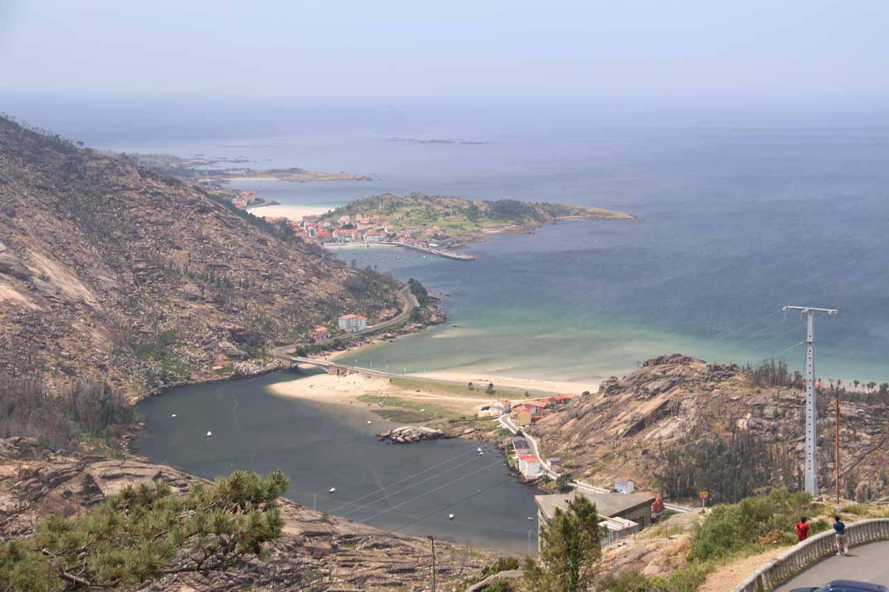 Looking down towards the town of Ezaro and the Atlantic Ocean