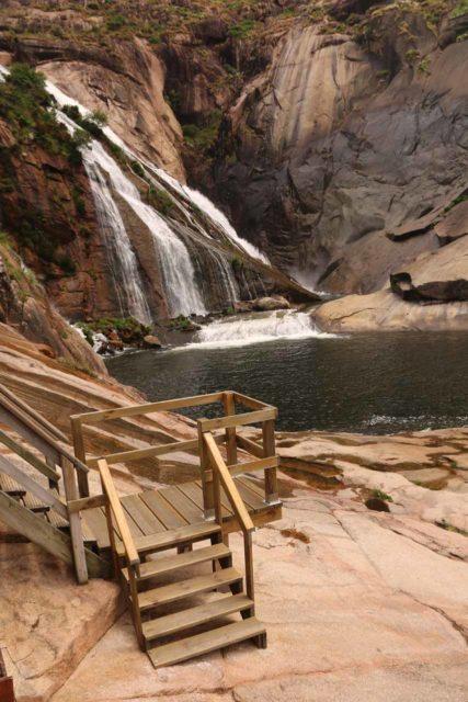 Ezaro_115_06092015 - The trail led us to stairs that brought us to the rocky banks of the Rio Xallas before the Fervenza do Ezaro