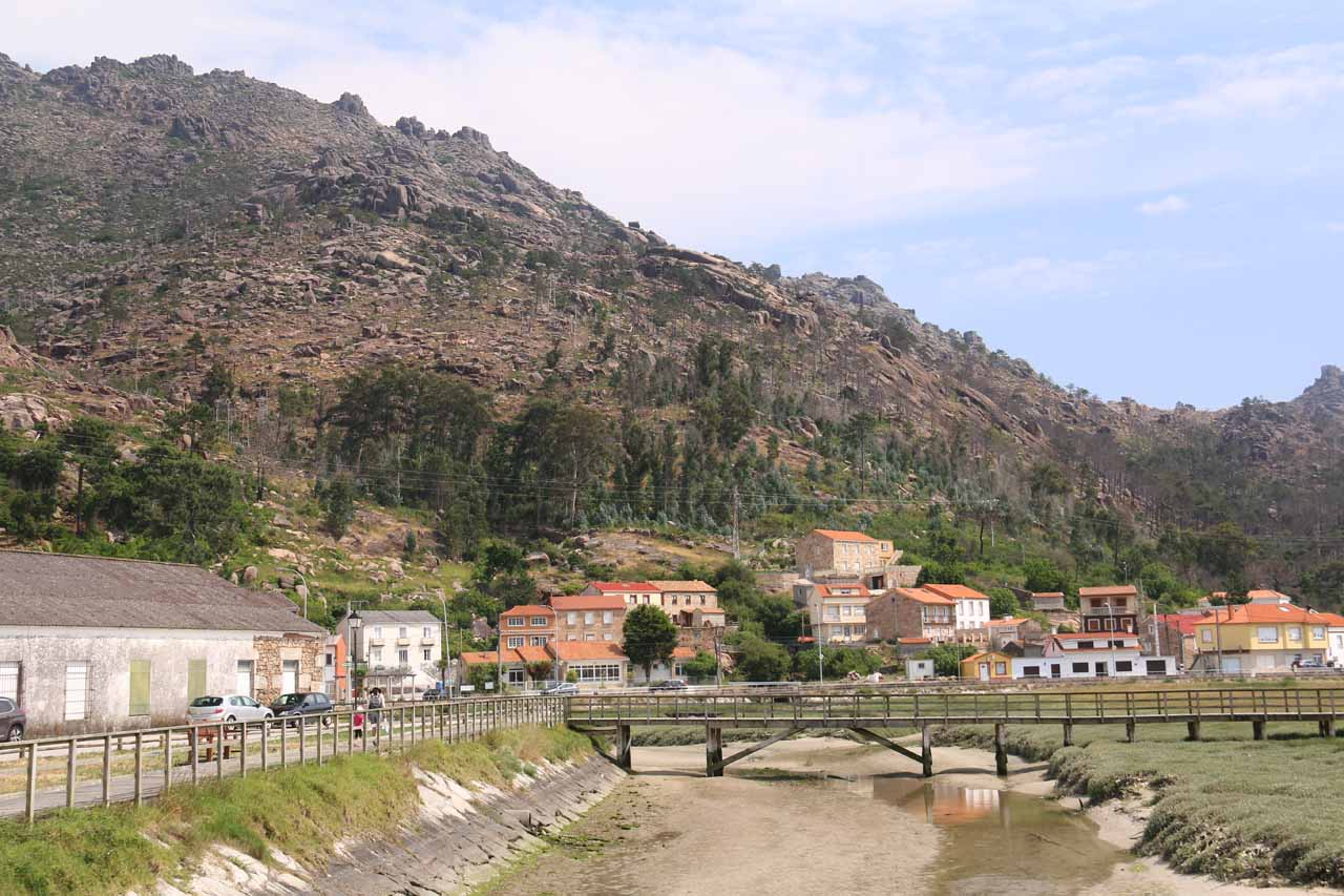 Back at the town of Ezaro where we were about to regain the car and head back to Santiago de Compostela