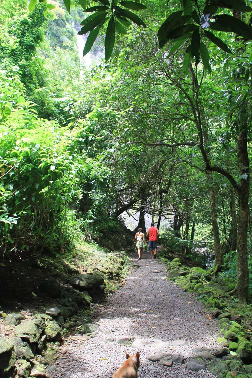 On the short walk to Vaimahutu Falls