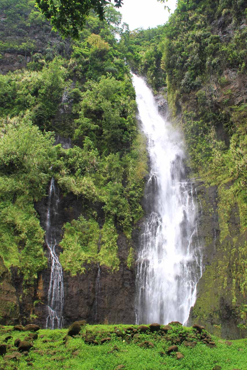 Vaimahutu Falls - one of the three Faarumai Waterfalls