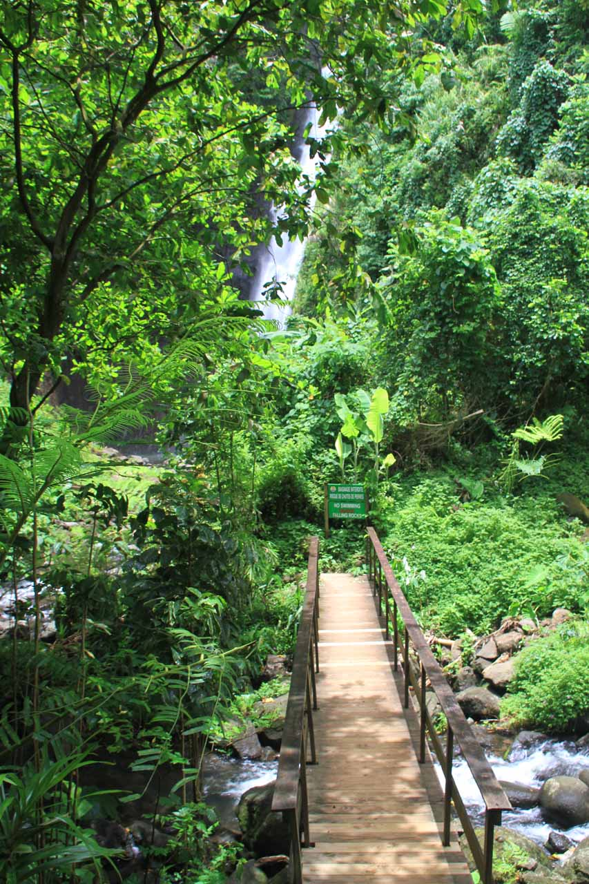 The bridge leading to Haamaremare Rahi
