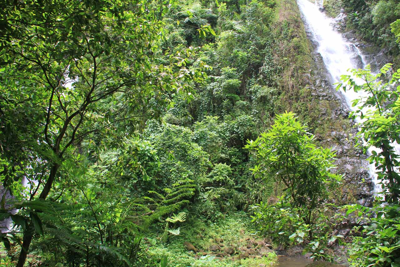I could start to see both waterfalls as I approached Haamaremare Iti