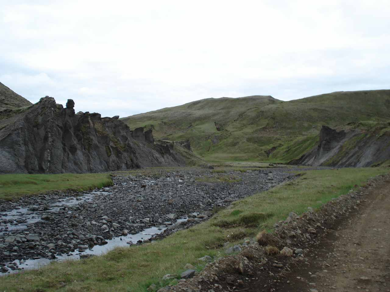 After that first river crossing, we followed along a riverbed until the road pretty much was on that riverbed itself!