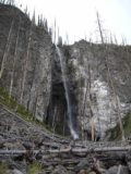 Fairy_Falls_004_jx_06192004 - Contextual look back at the Fairy Falls surrounded by dead trees during our June 2004 visit