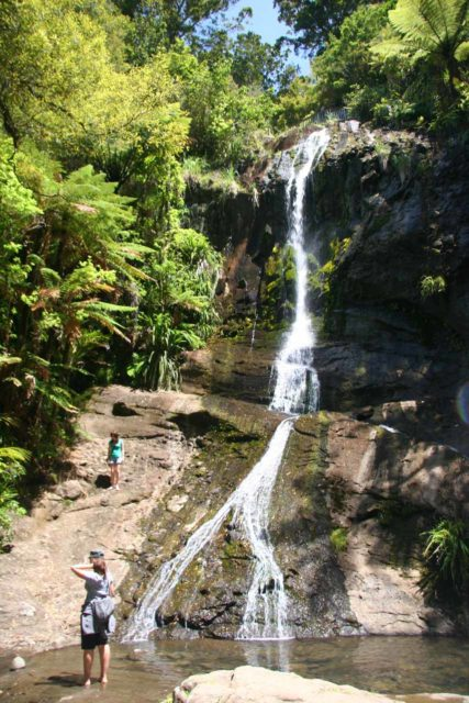 Fairy_Falls_036_01092010 - The bottommost tier of Fairy Falls, which was quite busy
