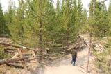 Fairy_Falls_Yellowstone_027_08112017 - After the climb started to flatten out, the Grand Prismatic Spring Overlook Trail then veered to the right and followed these fences
