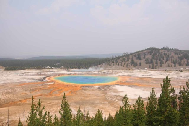 Fairy_Falls_Yellowstone_035_08112017 - The Grand Prismatic Spring Overlook from the newly-built spur trail uphill from the Fairy Falls Trail as seen in August 2017