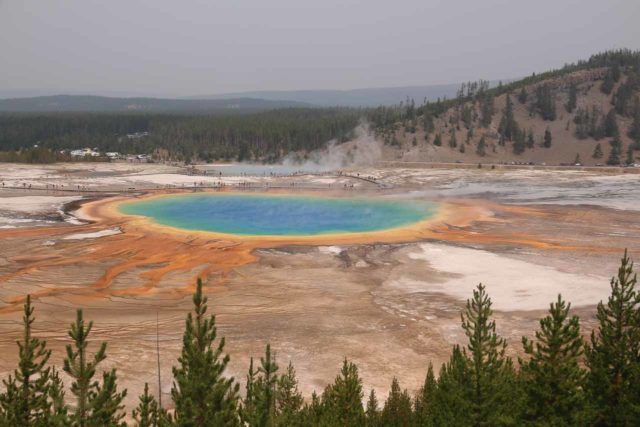 Fairy_Falls_Yellowstone_054_08112017 - Now that the Grand Prismatic Spring Overlook viewing area and trail has been established, this view was now sanctioned, but it was also very crowded