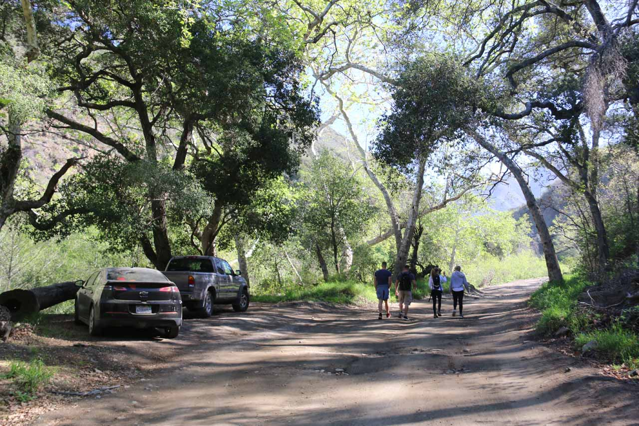 This hiking group was also in search of Falls Canyon Falls, and they were armed with a guidebook from Jerry Schad
