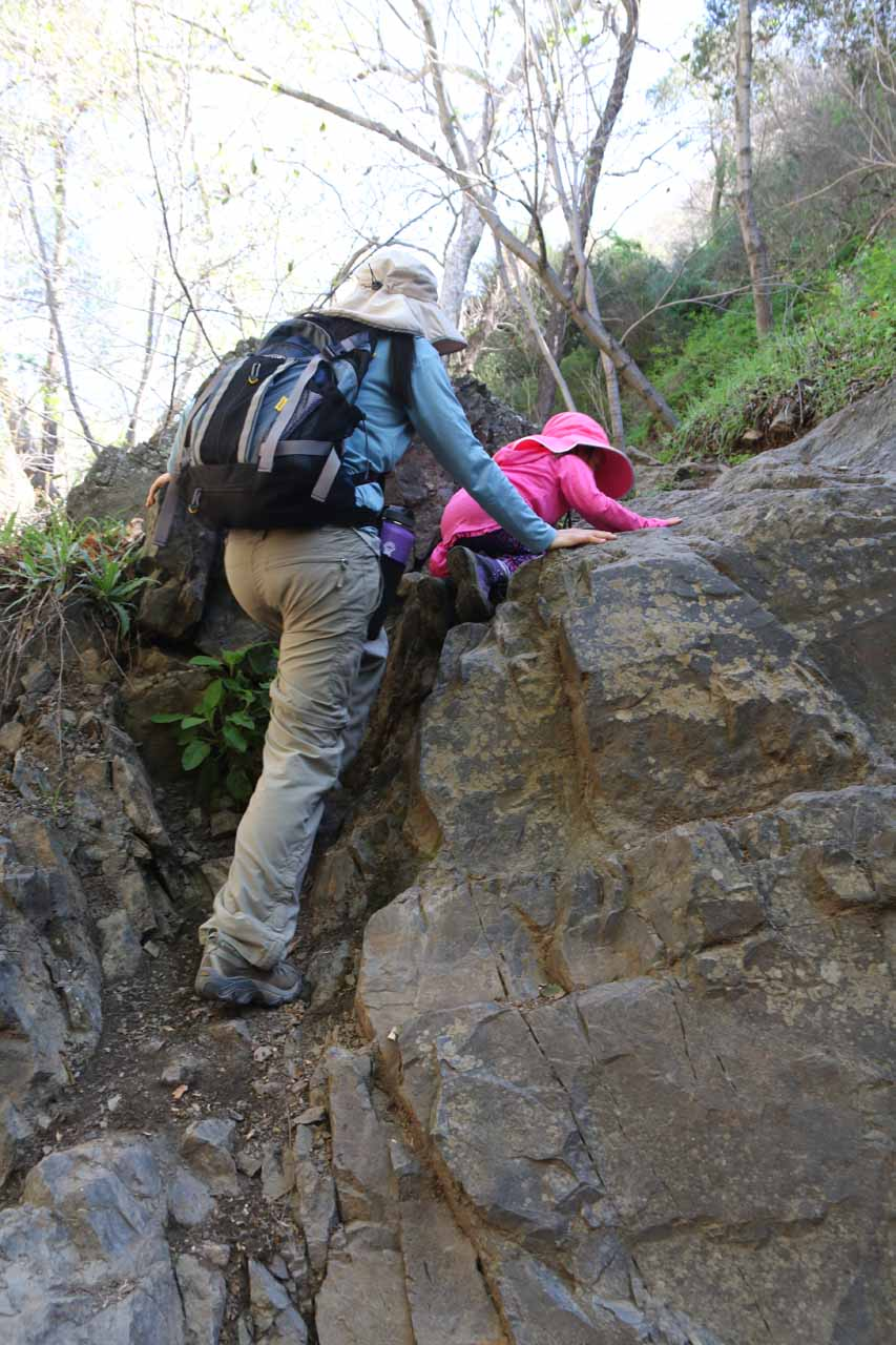 This was another tricky obstacle where we had to use our hands as well as our legs to get over this rock wall