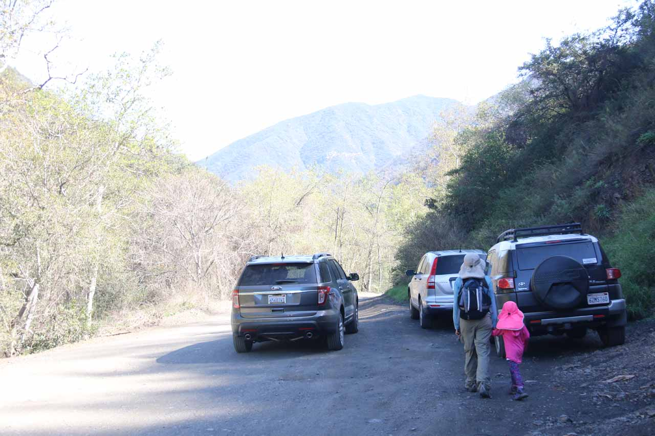 Given the amount of traffic on the rough and rugged Trabuco Creek Road, it's amazing that Falls Canyon Falls has managed to remain as hidden as it has been over the years despite its close proximity to Holy Jim Falls