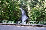 Falls_Creek_Falls_008_06212021 - Contextual look across the bridge over Falls Creek towards its waterfall