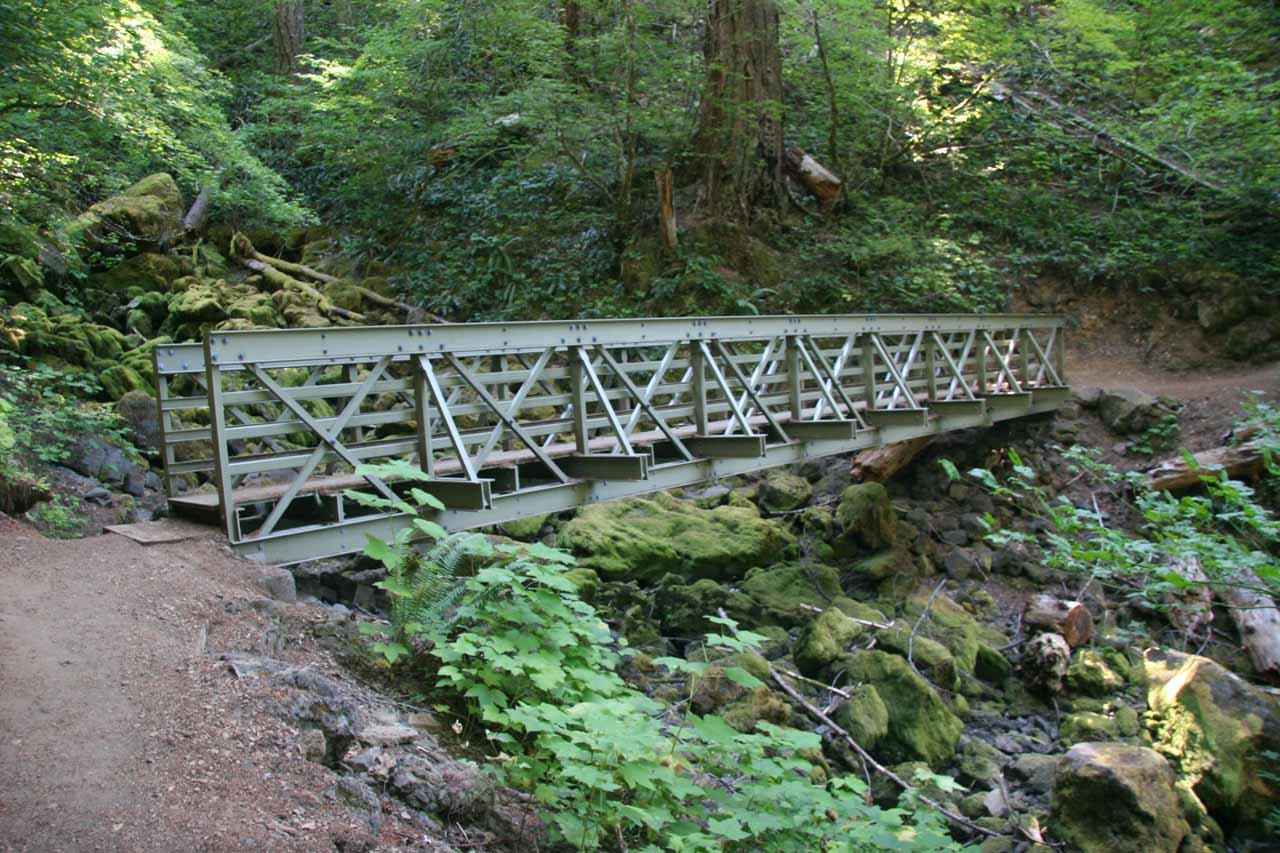 Steel footbridge