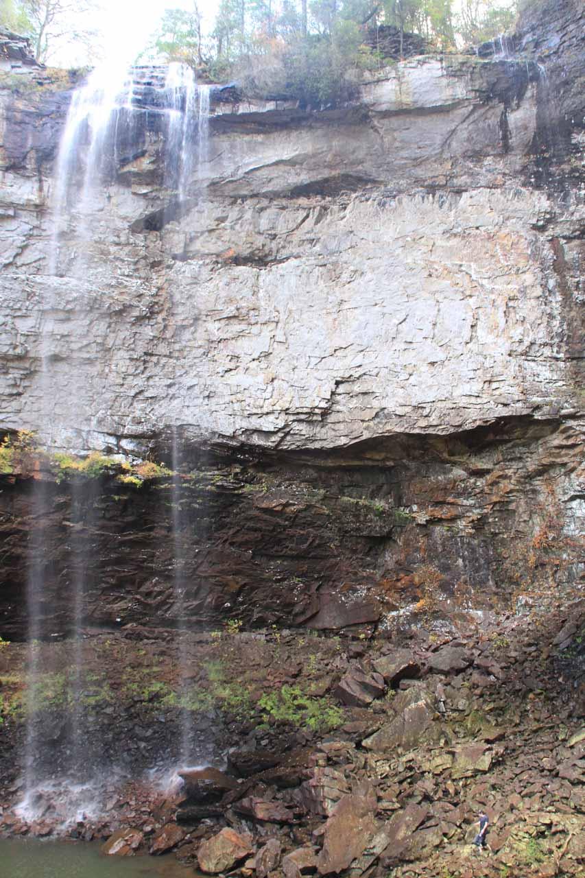 At the base of Falls Creek Falls