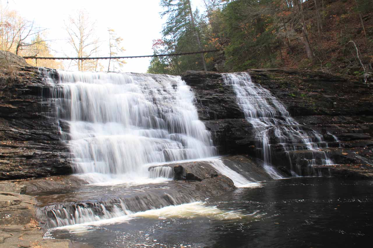 Frontal view of Cane Creek Cascade