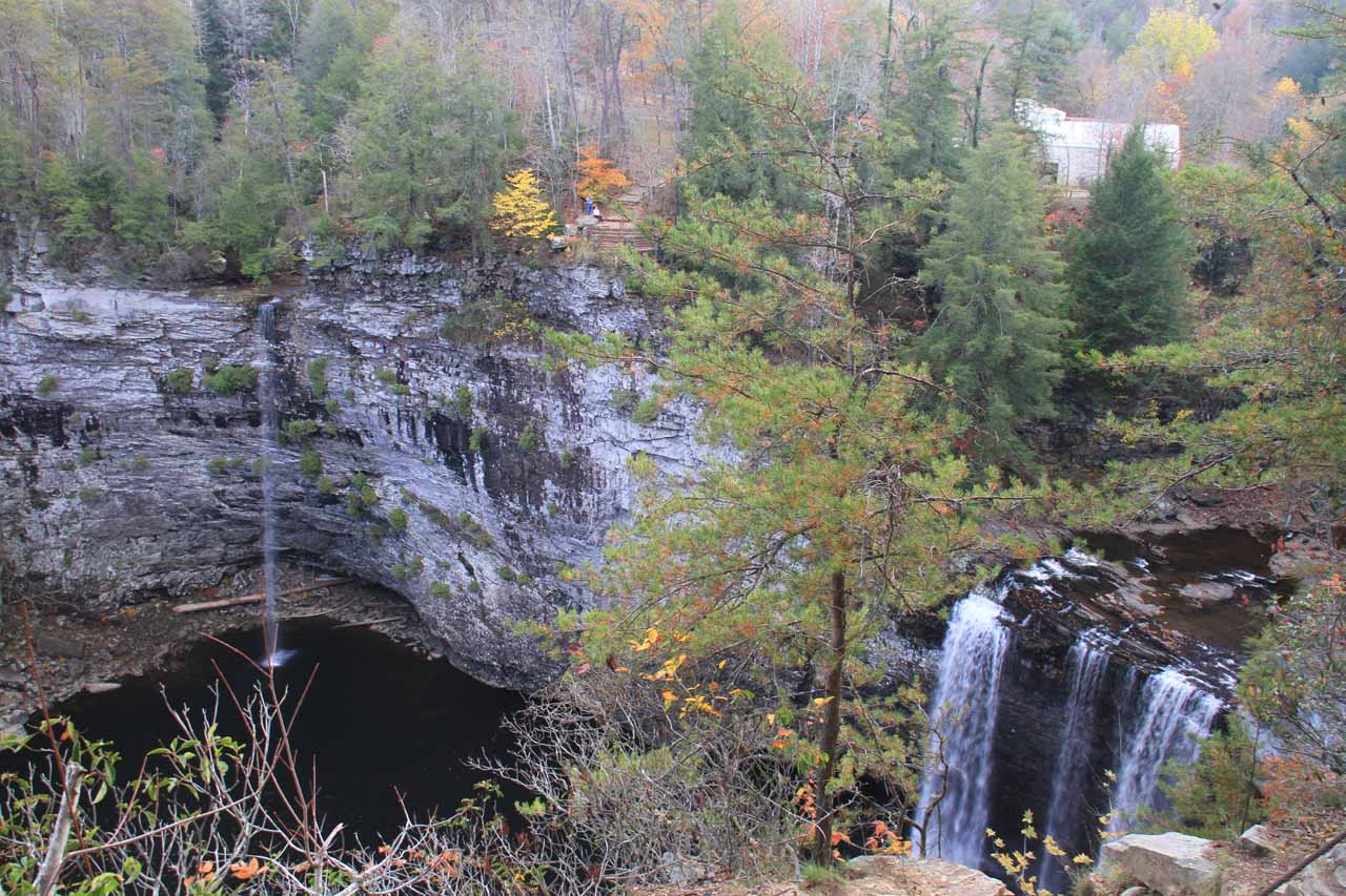 Both Rockhouse Falls and Cane Creek Falls seen together