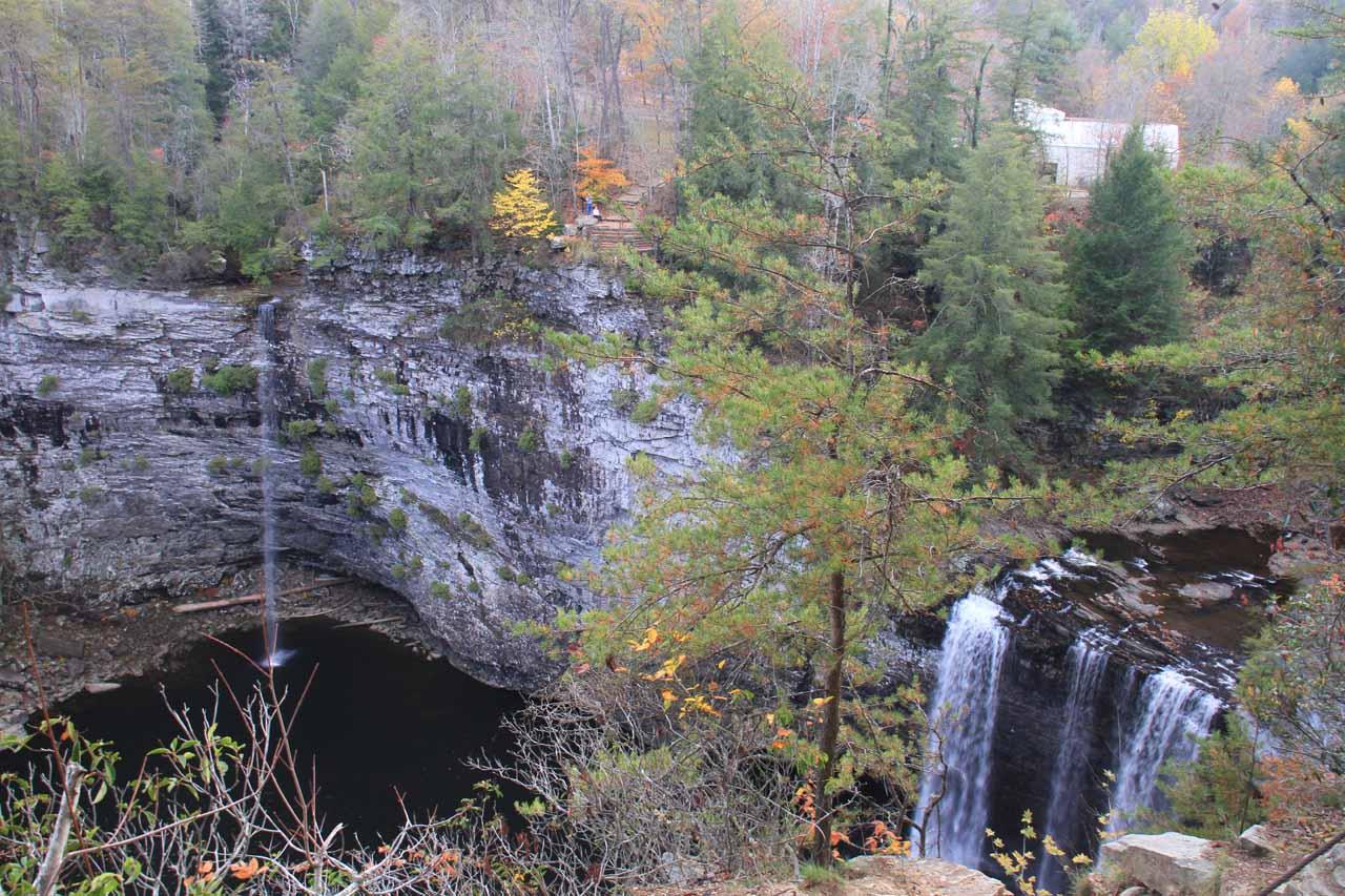 Both Rockhouse Falls and Cane Creek Falls seen together