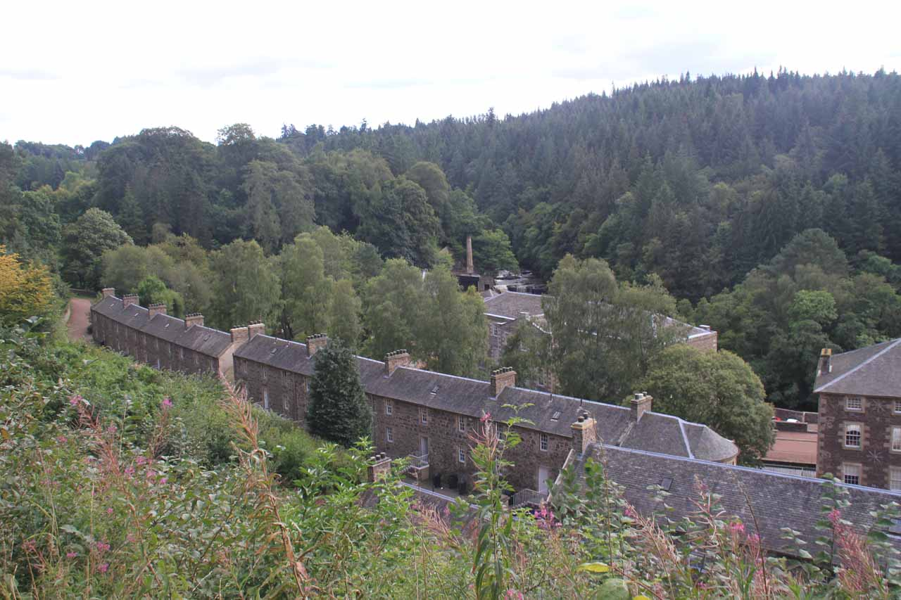 The UNESCO town of New Lanark was the real claim to fame of the area as the Falls of Clyde Waterfalls were really a waterfallers excuse to explore and learn more about the place
