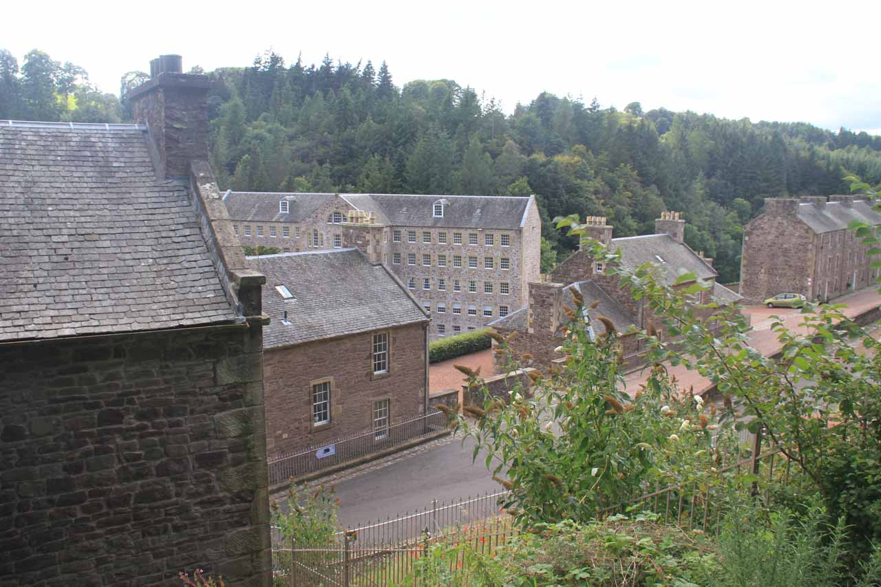 Getting closer to the buildings of New Lanark as it became quite clear that I was entering a different place